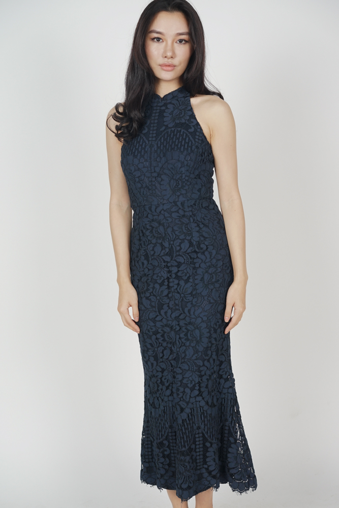 Raielyn Lace Dress in Midnight
