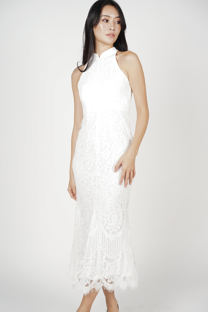 Raielyn Lace Dress in White - Arriving Soon