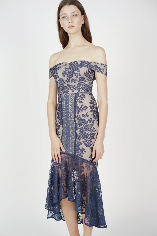 Amie Lace Dress in Midnight - Arriving Soon