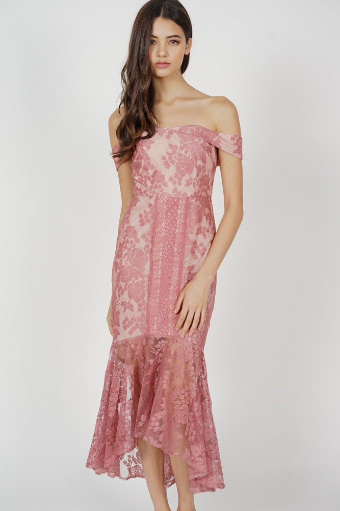 Amie Lace Dress in Pink - Arriving Soon