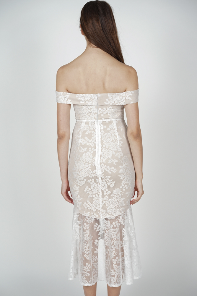 Amie Lace Dress in White