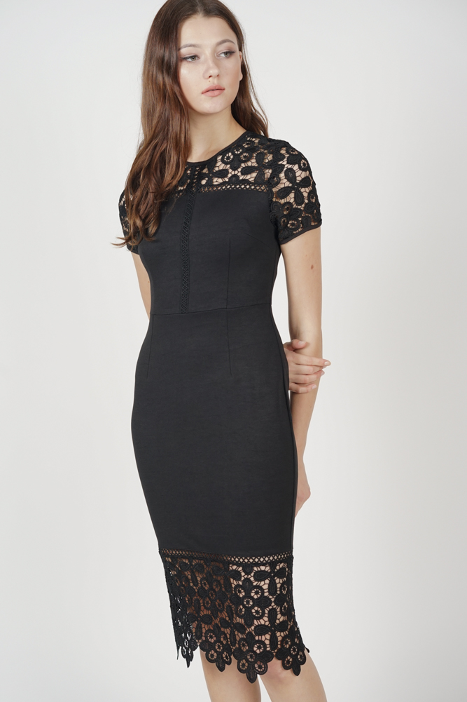 Olivia Lace Dress in Black - Online Exclusive