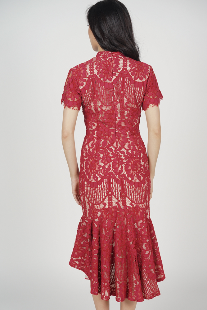 Anni Cheongsam Dress in Red - Arriving Soon