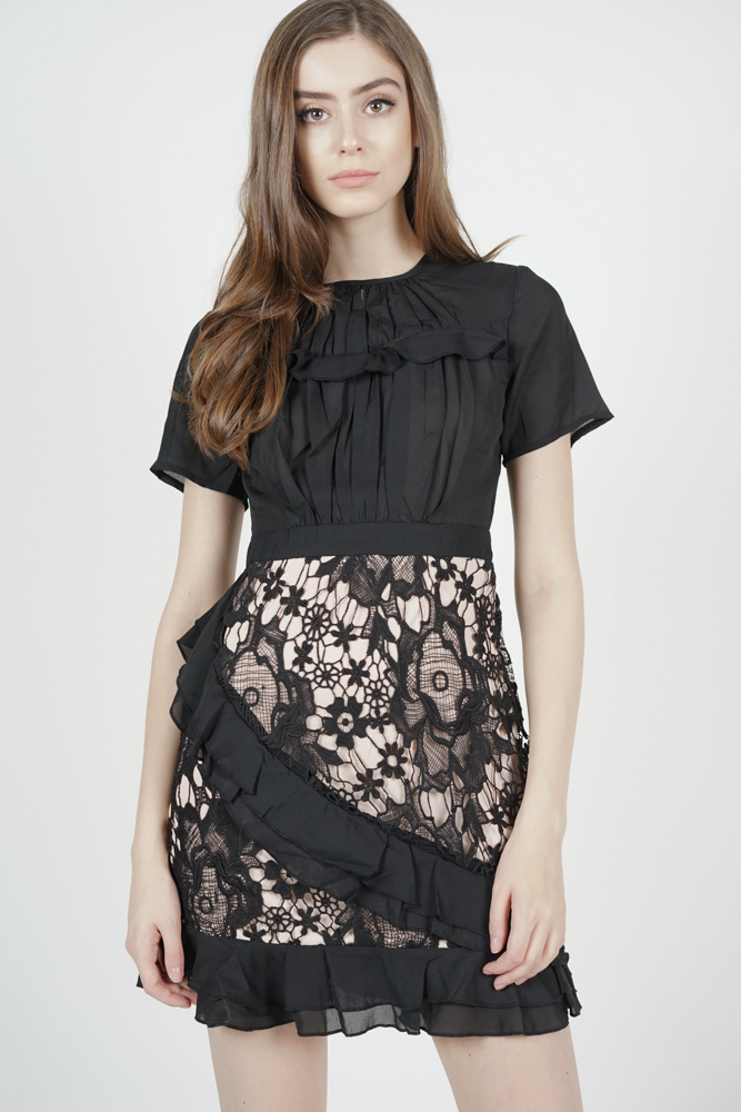 Jayla Lace Dress in Black
