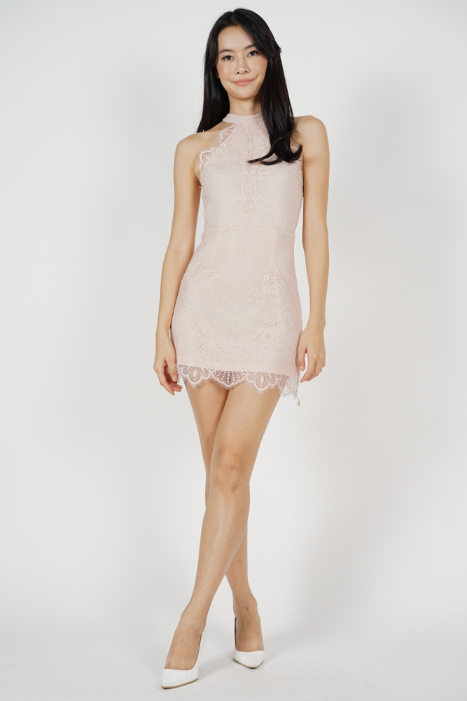 Friesha Lace Dress in Pink