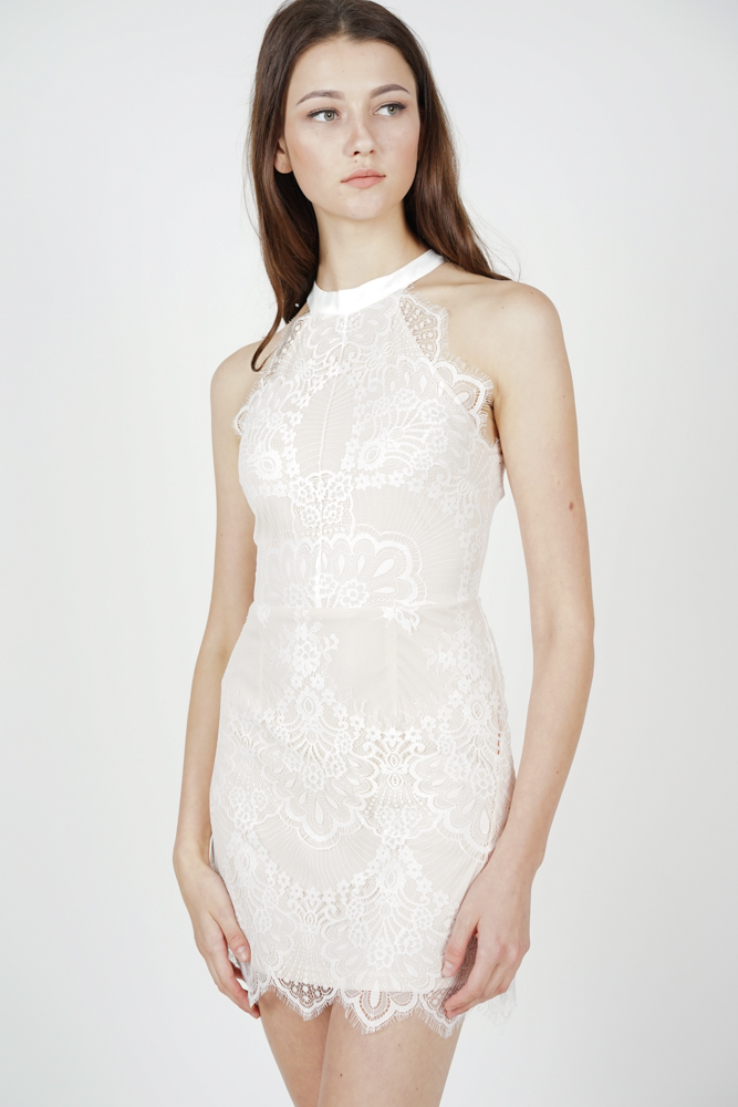 Friesha Lace Dress in White