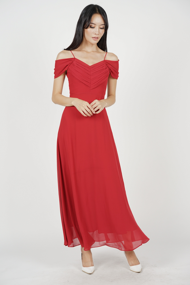 Faustina Maxi Dress in Red