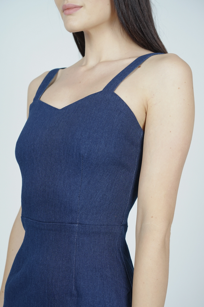 Polina Ruffled-Hem Dress in Blue - Arriving Soon