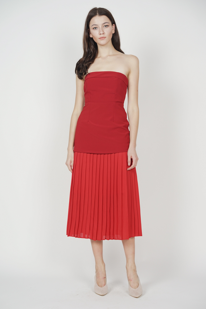 Klarei Tube Dress in Red