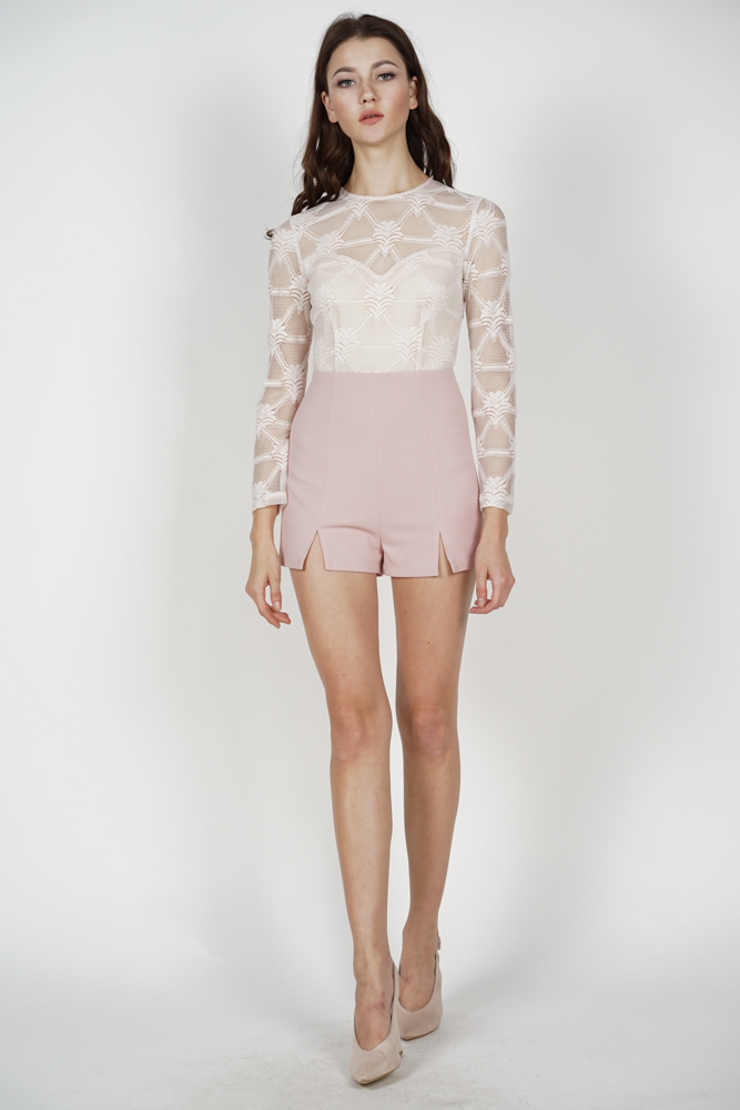 Millia Lace Romper in Pink - Arriving Soon