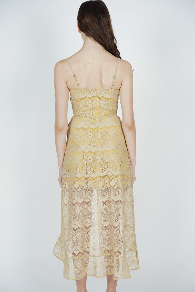 Orianna Lace Dress in Buttercup - Arriving Soon