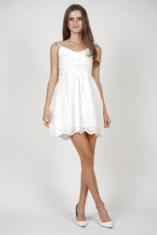 Ellai Flared Dress in White