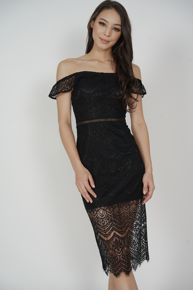 0a52d62f9d1 MDS. Hailey Lace Dress in Black - Arriving Soon