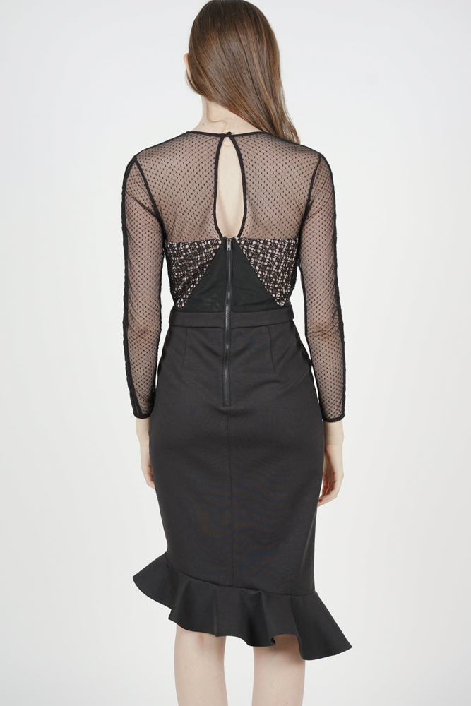 Sofya Lace Dress in Black - Arriving Soon