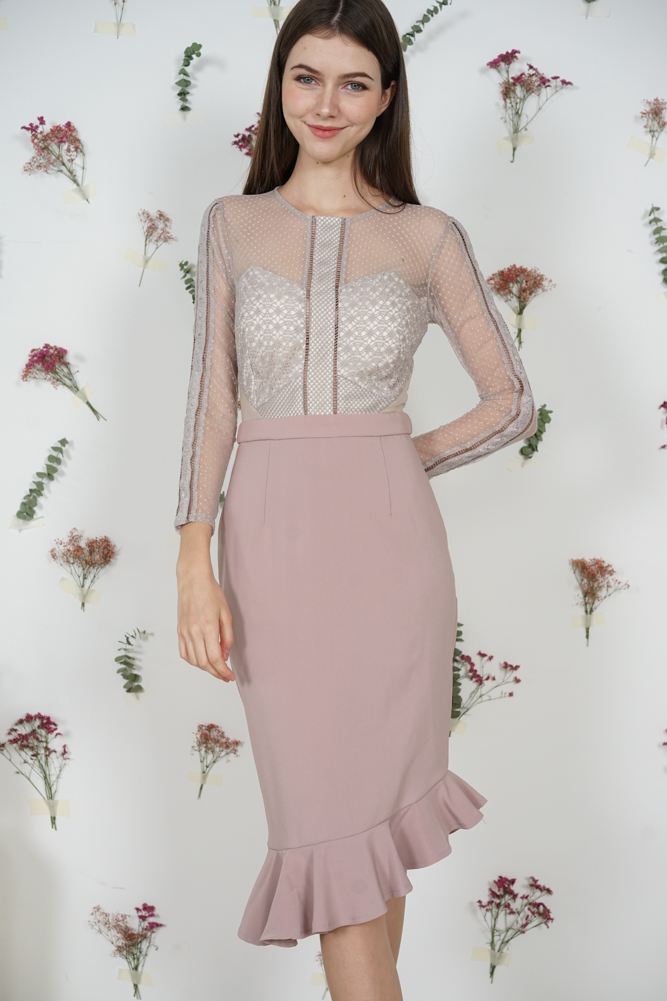 Sofya Lace Dress in Pink - Arriving Soon