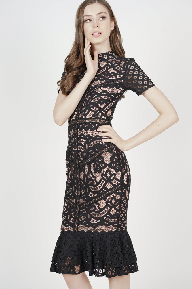 Tishya Lace Dress in Black - Arriving Soon