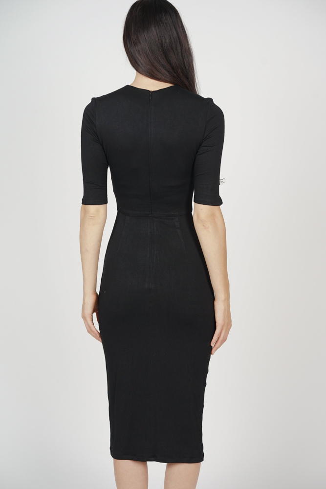 Zelda Slit Dress in Black