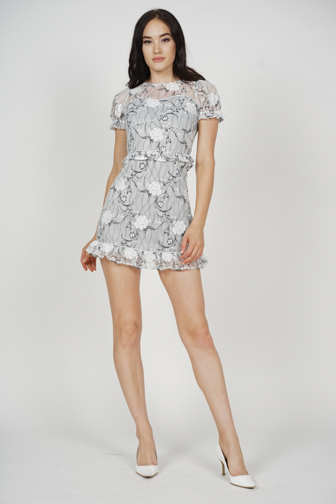 Stasia Lace Dress in White