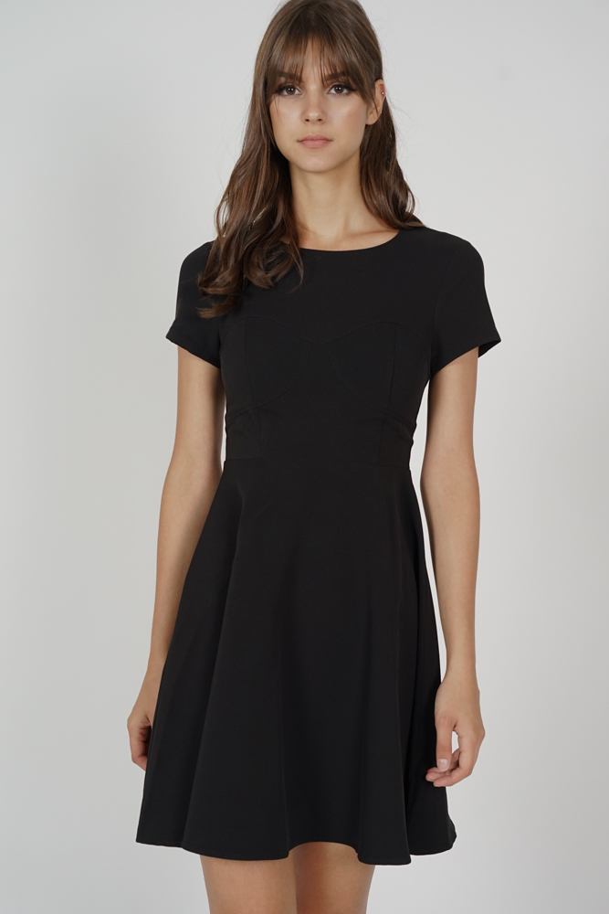 Wernia Flared Dress in Black - Arriving Soon