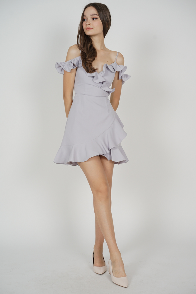 Brenie Ruffled Dress in Lilac - Arriving Soon