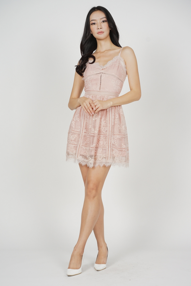 Betty Lace Dress in Pink - Arriving Soon