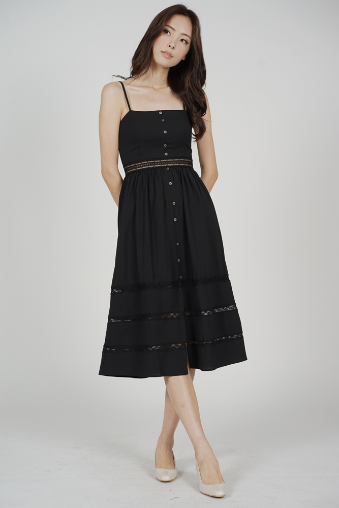 Miranda Cami Dress in Black