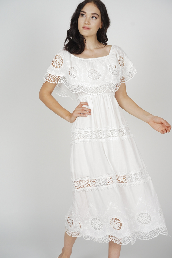 99725ae30aba Alcie Crochet Dress in White - Arriving Soon