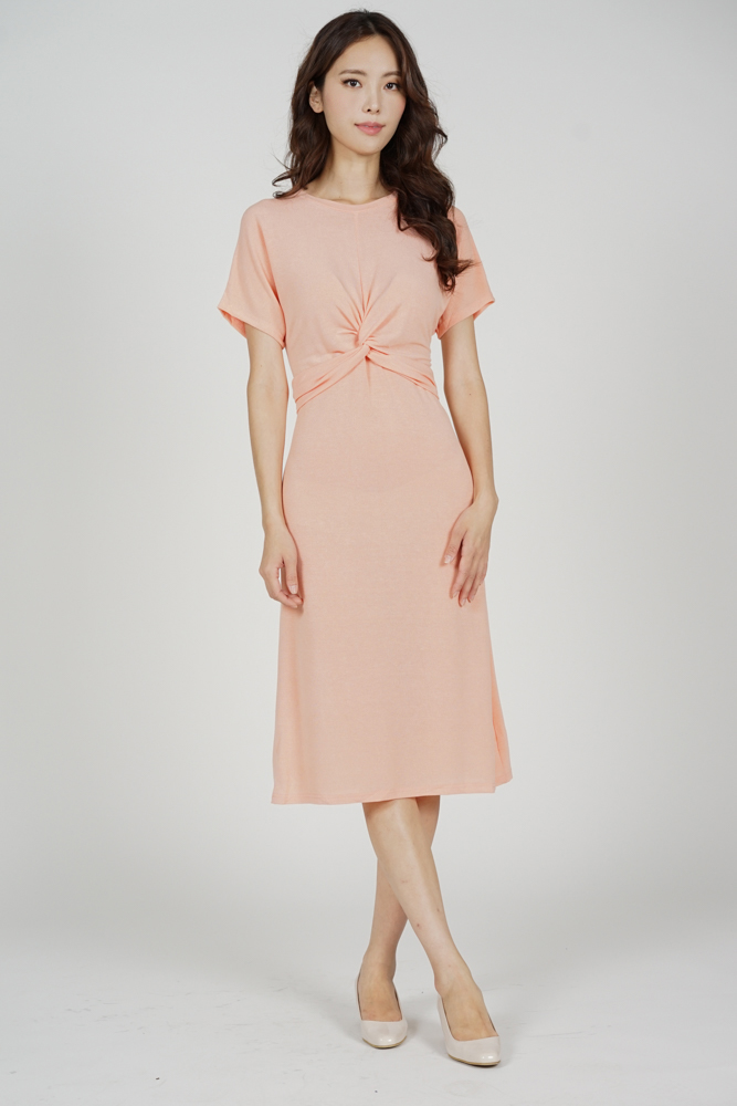 Freia Knot Dress in Pink - Online Exclusive