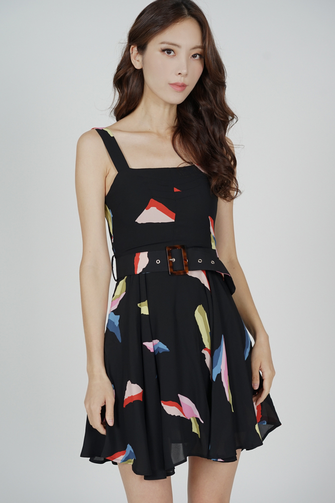 Jadna Flared Dress in Black - Arriving Soon