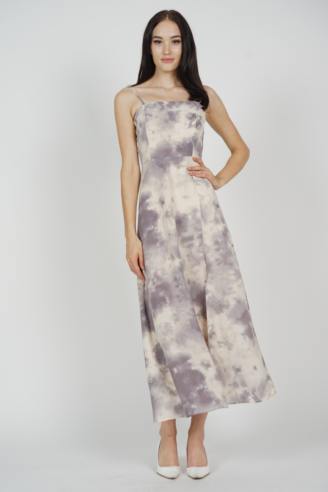 Mizha Slit Dress in Grey - Arriving Soon