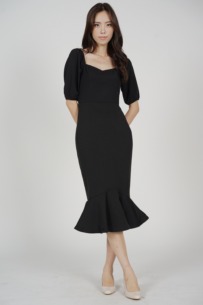 Vera Mermaid Dress in Black