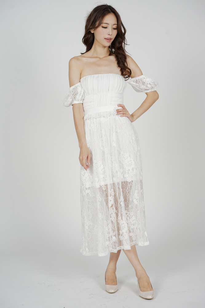 Cerise Lace Dress in White - Arriving Soon