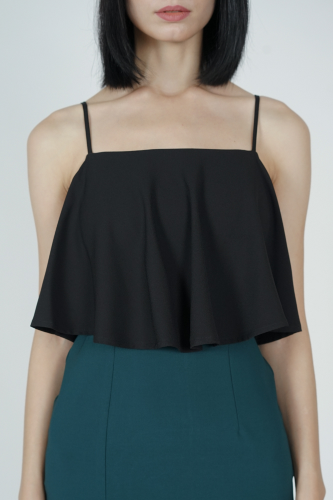 Marvie Cutout Slit Dress in Black Green - Arriving Soon