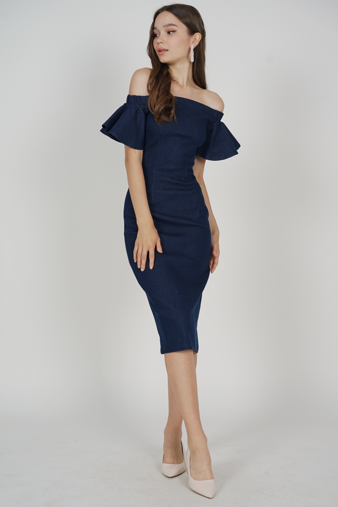 Kaeris Denim Dress in Blue