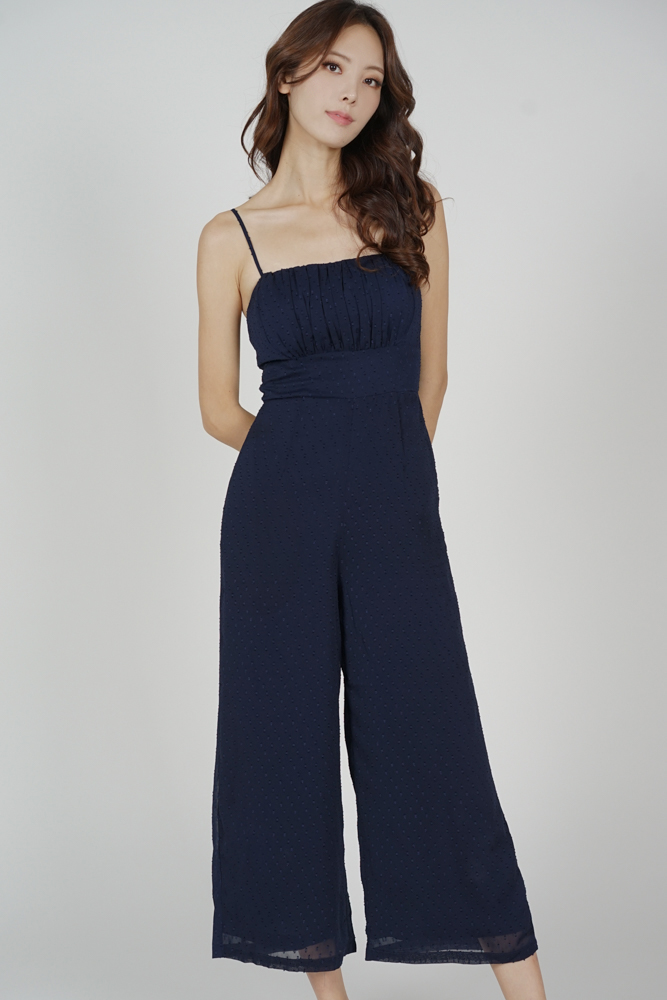 Mergia Cami Jumpsuit in Midnight