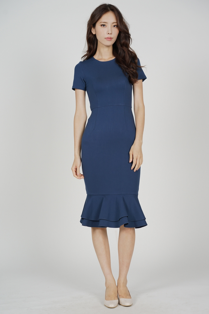 Claire Mermaid Dress in Blue - Arriving Soon
