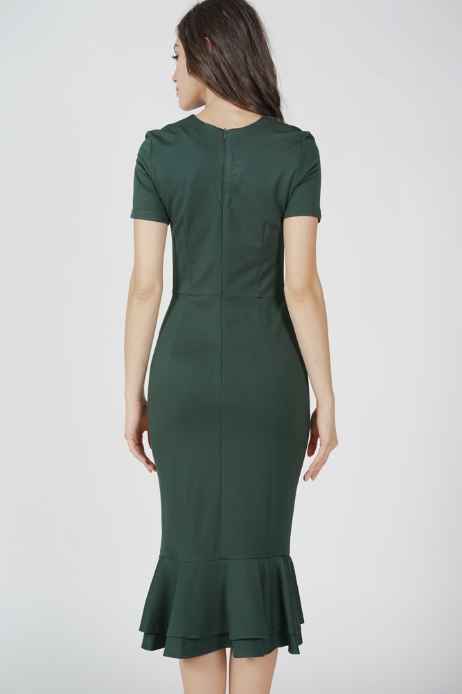 Claire Mermaid Dress in Olive - Arriving Soon