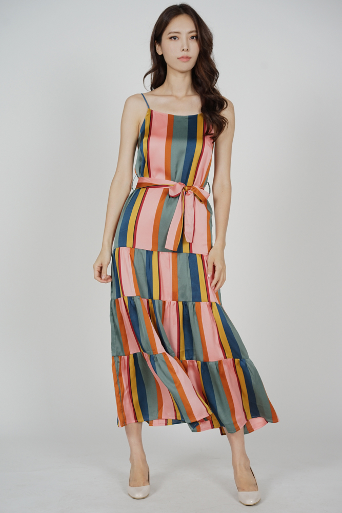 Kilda Dropwaist Dress in Multi - Arriving Soon