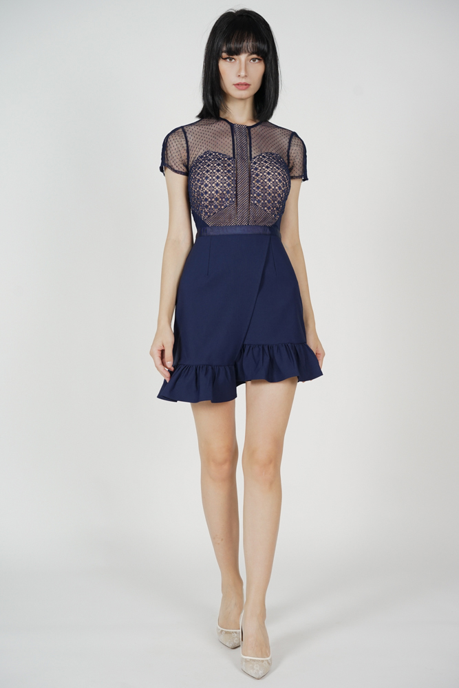 Adele Lace Dress in Midnight - Arriving Soon