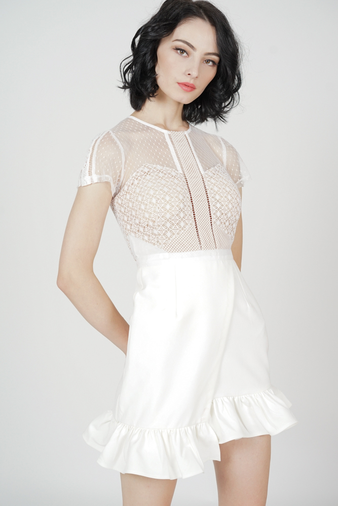 Adele Lace Dress in White - Arriving Soon