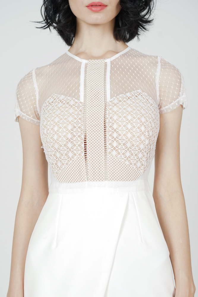 Adele Lace Dress in White
