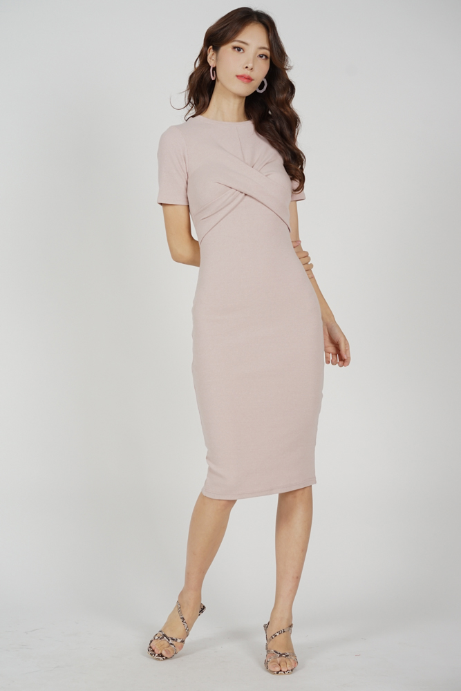 Lesner Criss Cross Dress in Pink