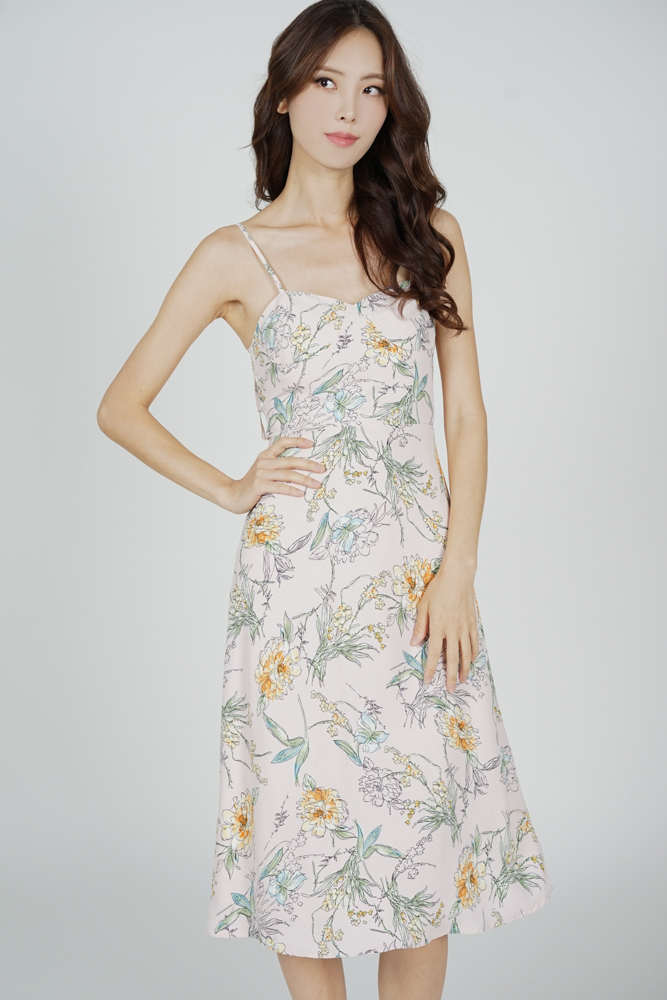 Dinaz Midi Dress in Pink Floral - Arriving Soon