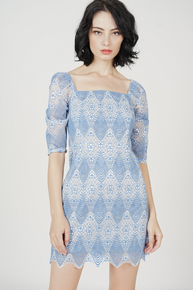 Valssia Lace Dress in Blue