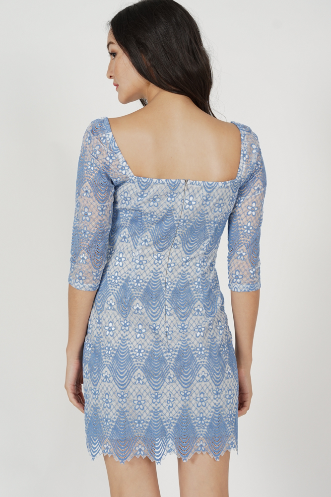 Valssia Lace Dress in Blue - Arriving Soon