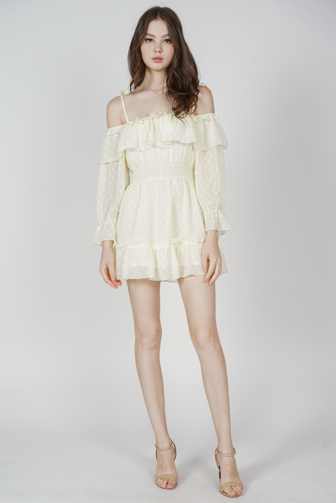 Jika Ruffled Dress in Yellow - Arriving Soon