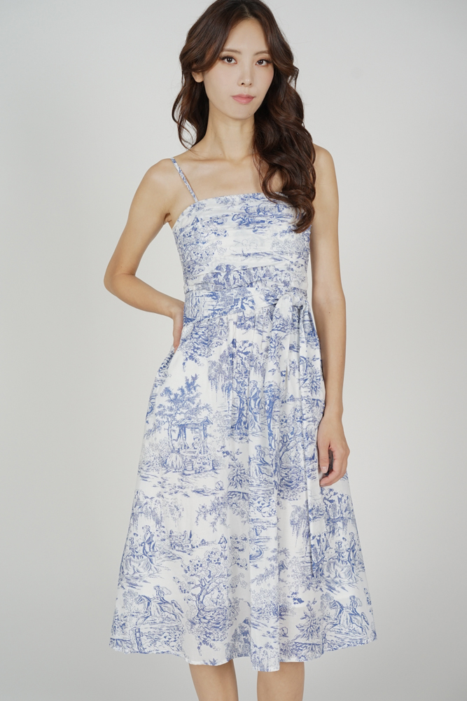 Moana Midi Dress in Blue - Arriving Soon