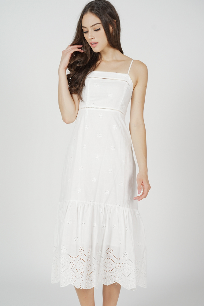 Denia Cami Dress in White - Arriving Soon