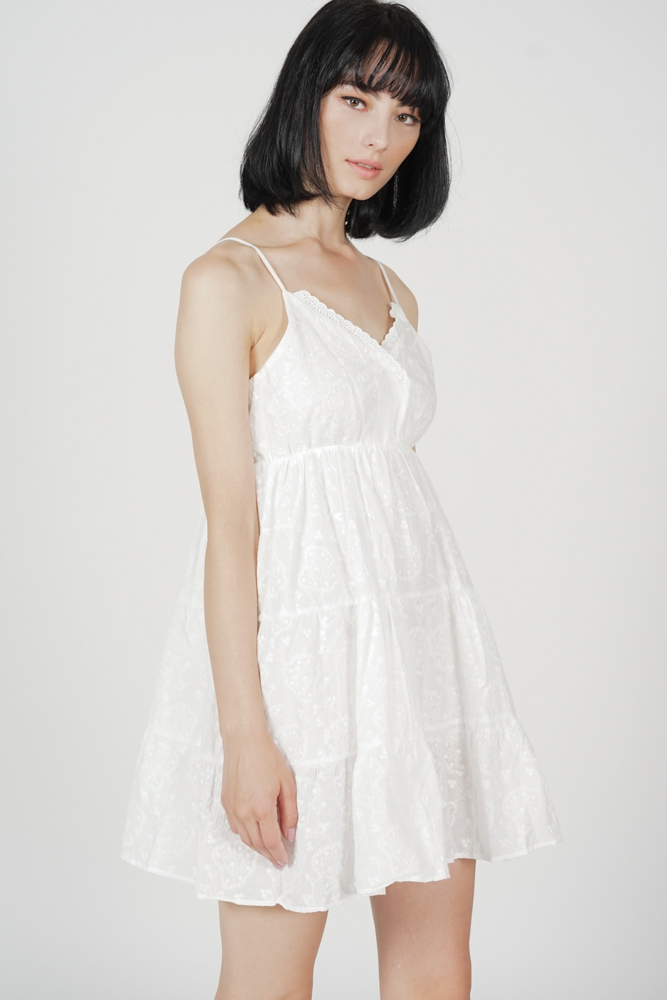 Lilo Flared Dress in White