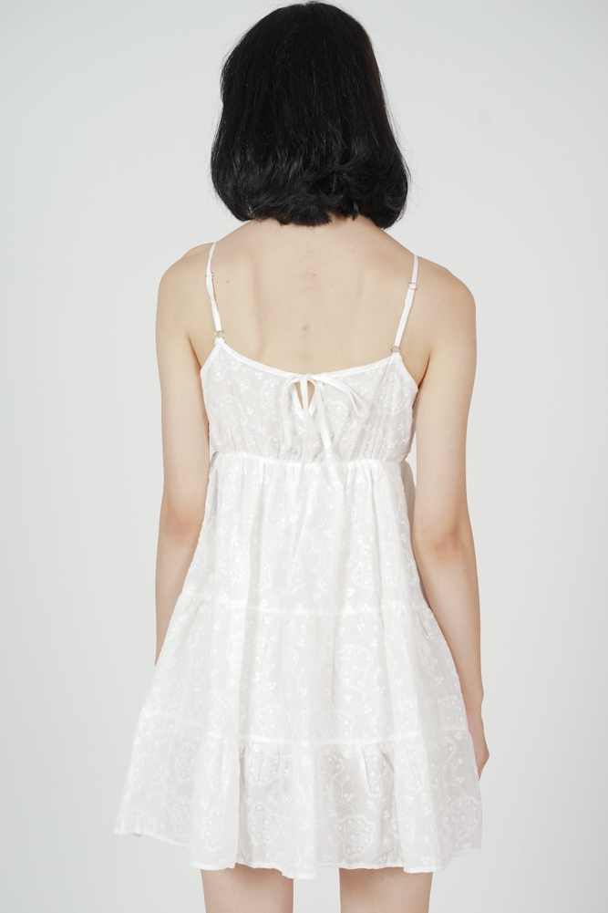 Lilo Flared Dress in White - Arriving Soon